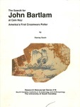 The Search for John Bartlam at Cain Hoy: American's First Creamware Potter