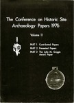 The Conference on Historic Site Archaeology Papers 1976 - Volume 11