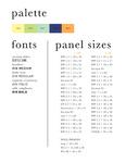 Pallet, Font, Sizes by Allison Marsh